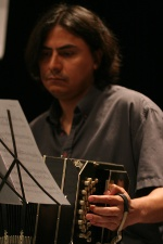 Rafael Velasco plays Bandoneon at the Ensemble Tangente since 2008